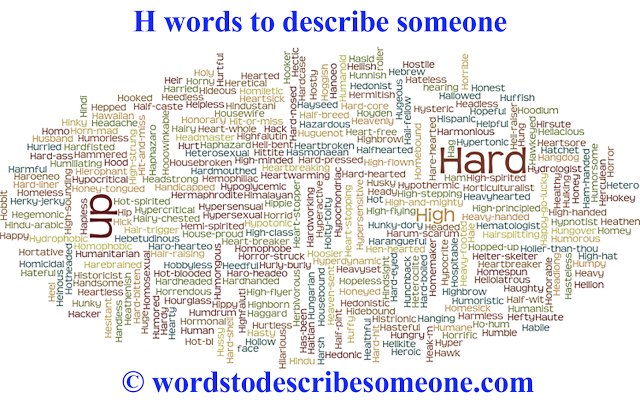 adjectives words that describe a person