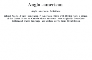 Anglo-american definition | Anglo-american meaning - words