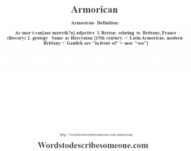 Armorican- Definition: