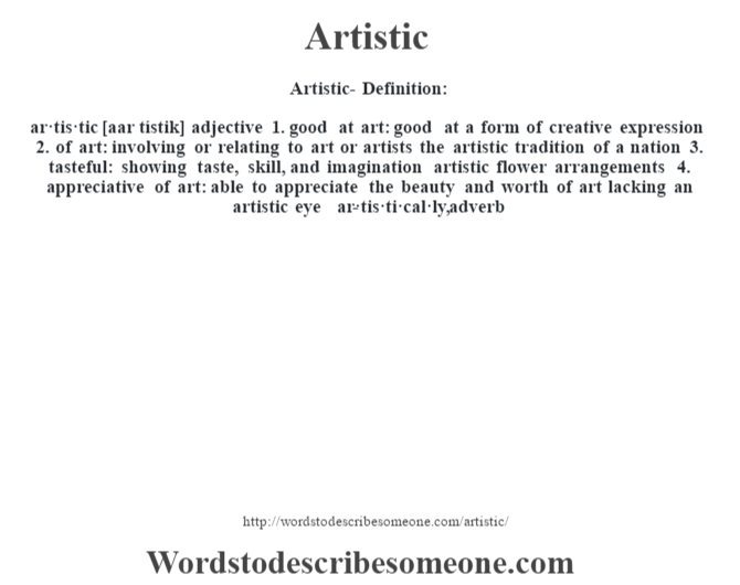 Form Definition In Art : Artistic definition meaning words to describe