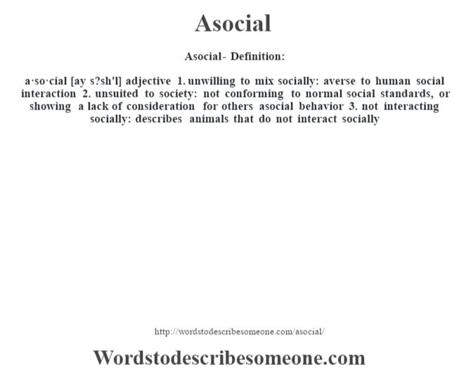 definition asocial