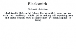 the definition of blacksmith