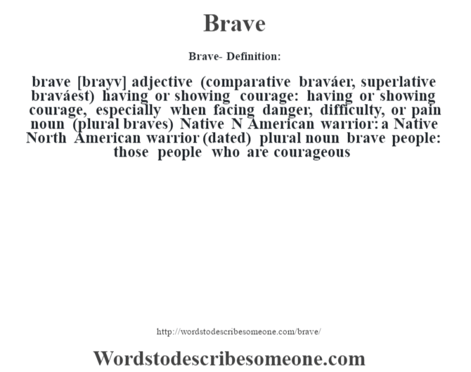 brave meaning