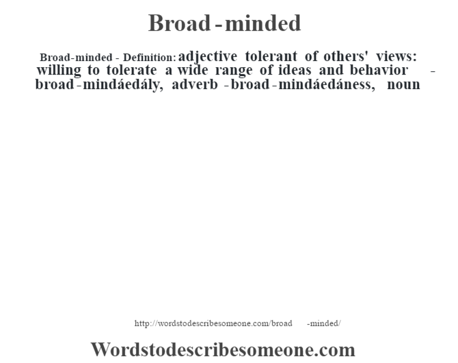 Broadminded meaning