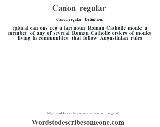 What Does The Term Canon Mean
