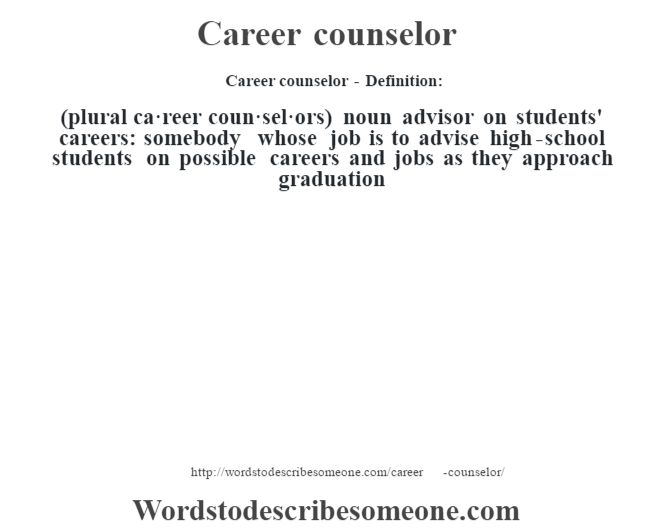 how to become a high school career counselor