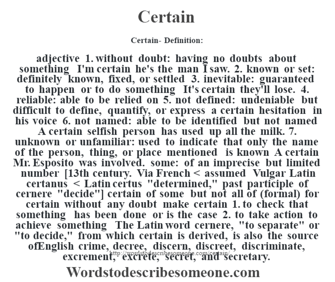 Certain | Definition of Certain by Merriam-Webster