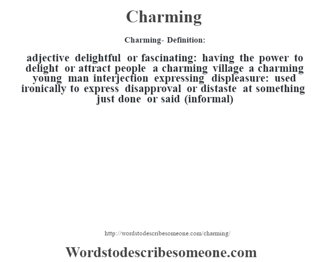 charming definition charming meaning words to describe