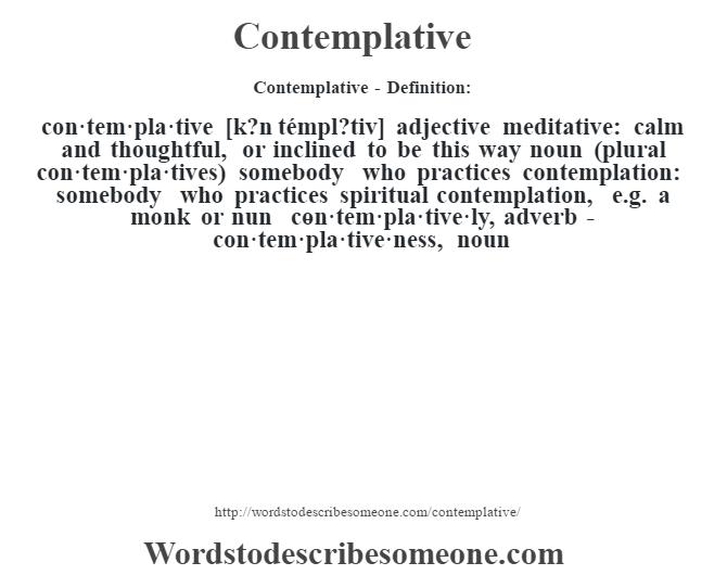 contempler definition