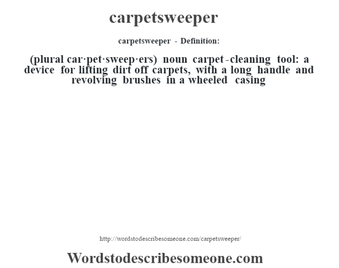 Carpetsweeper Definition Carpetsweeper Meaning Words
