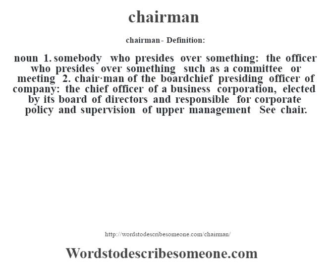 chairman definition