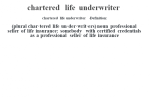 what does chartered life underwriter mean Archives - words to describe someone