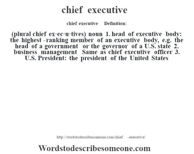 what is the plural of chief