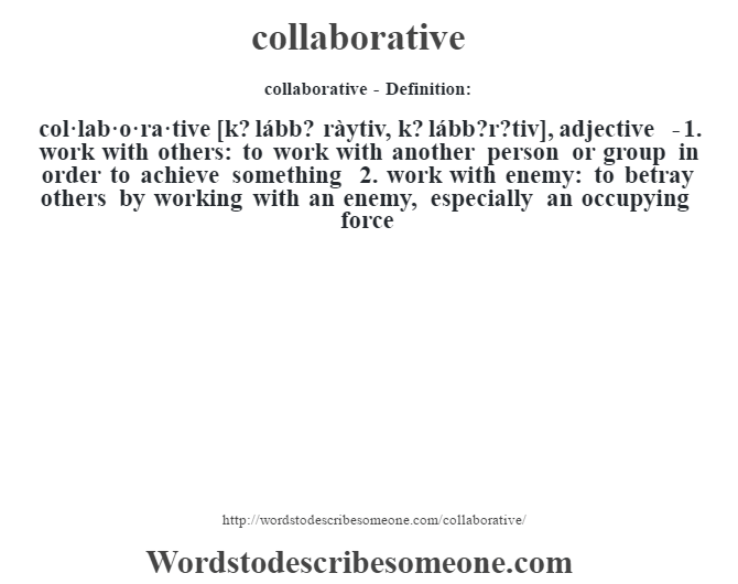 Collaborative Teaching Definition ~ O words to describe someone pixshark images