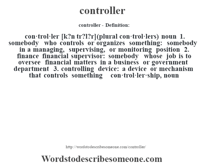 controller definition | controller meaning - words to