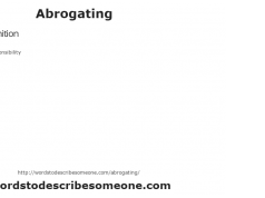 Abrogating - Definition