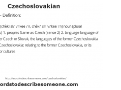 Czechoslovakian - Definition: