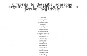 e words to describe someone negatively negative words that start with u archives words to 26413 | u words to describe someone negatively | u words to describe a person negatively 300x194